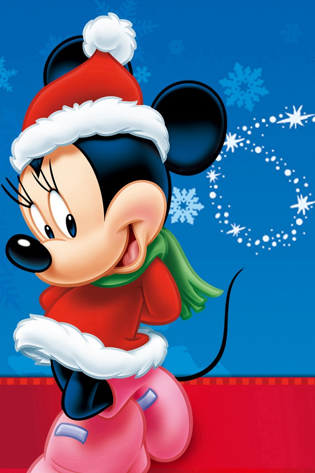 Natale minnie festivita sfondi per cellulare - Minnie mouse noel ...